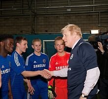 Boris Johnson Mayor Of London  At Millwall football club by Keith Larby