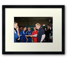 Boris Johnson Mayor Of London  At Millwall football club Framed Print