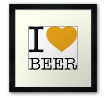 I ♥ BEER Framed Print
