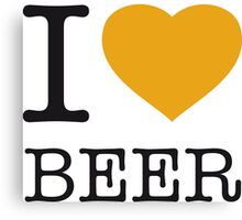 I ♥ BEER Canvas Print