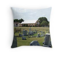 Old Bethel Cemetery and Church Throw Pillow