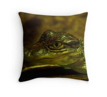Baby Gator Throw Pillow