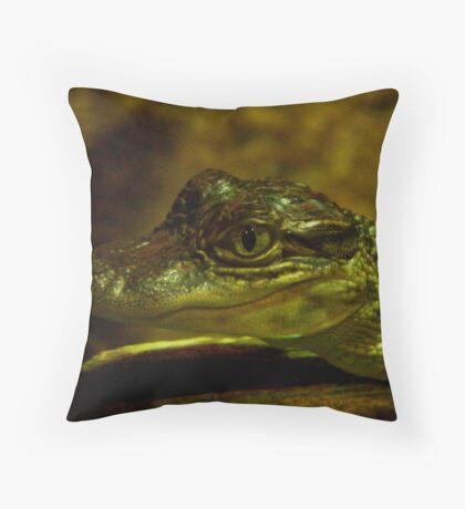 Baby Gator Throw Pillow