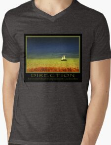 Direction Mens V-Neck T-Shirt