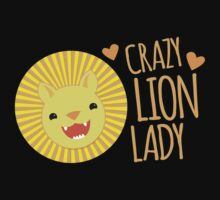 Crazy LION Lady (with super cute kawaii lion) by jazzydevil