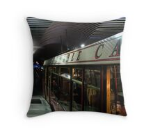 The Cable Car, a Visual Essay on Patterns and Reflections Throw Pillow