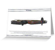Lancaster 617 Squadron 7 Greeting Card