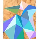 Abstract sharp colored shapes by mikath