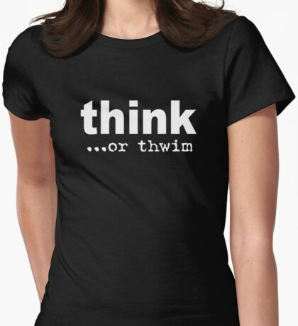 t h w i m  Womens Fitted T-Shirt