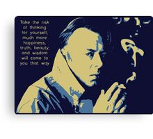 Christopher Hitchens Quote Canvas Print