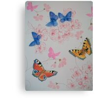 flutter on by Canvas Print
