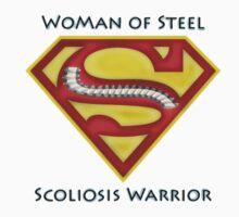 Woman of Steel - Scoliosis Awareness Kids Tee