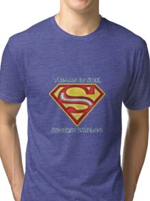 Woman of Steel - Scoliosis Awareness Tri-blend T-Shirt