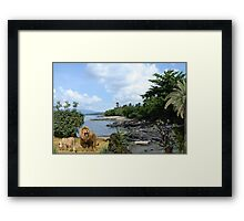 957A-Jungle Beach King Framed Print