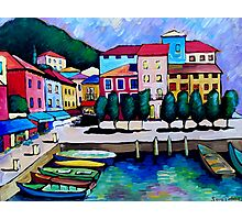 SUMMER IN MALCESINE - FRANCE. Photographic Print