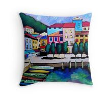 SUMMER IN MALCESINE - FRANCE. Throw Pillow