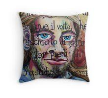 Inferno Self-portrait (Oils)- Throw Pillow