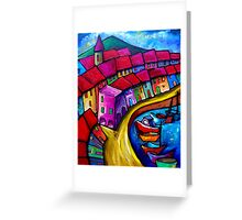 COLOURFUL PORT OF CORRICELLA - ITALY. Greeting Card