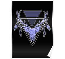 Triangle Deer 2 Poster