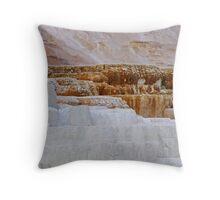 Mammoth Hot Springs Throw Pillow