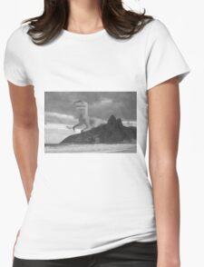 Dinosaur attacking Rio de Janeiro Womens Fitted T-Shirt