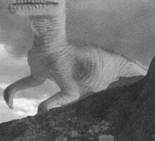 Dinosaur attacking Rio de Janeiro Sticker