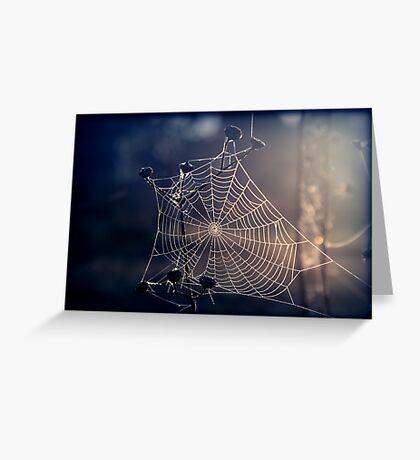 Spiders Sunrise Greeting Card