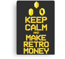 Make Retro-money Canvas Print