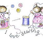 I love sewing by Kate Garrett