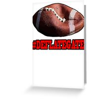DEFLATEGATE - Official Game Ball of the New England Patriots Greeting Card