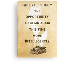 Failure is an Opportunity Canvas Print