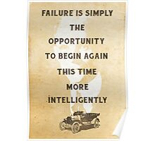 Failure is an Opportunity Poster