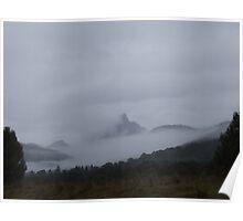 Mist Shrouded Mt Warning Poster