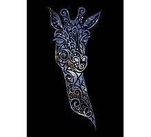 Blue Space Giraffe Photographic Print