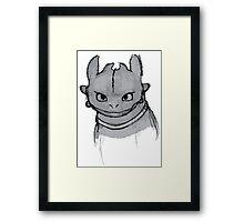 Toothless (larger) Framed Print