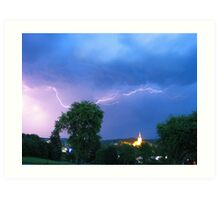 summer thunderstorm Art Print