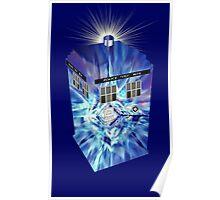 TARDIS Illustrated- Tom Baker Poster