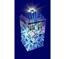 TARDIS Illustrated- Tom Baker Photographic Print