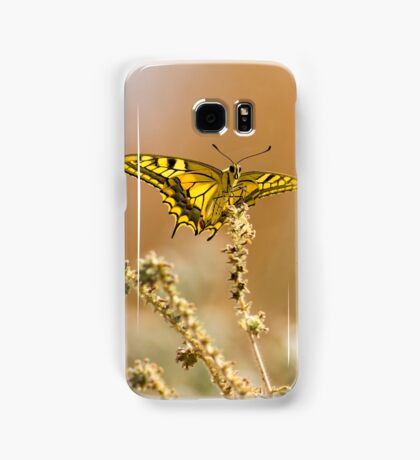 Common yellow swallowtail (Papilio machaon) butterfly  Samsung Galaxy Case/Skin