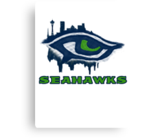 Seahawks Eye in English (SSH-000007) Canvas Print