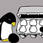 LINUX TUX PENGUIN EGG BOX BLACK EGG by SofiaYoushi