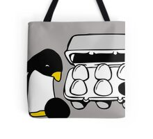 LINUX TUX PENGUIN EGG BOX BLACK EGG Tote Bag