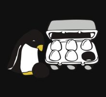 LINUX TUX PENGUIN EGG BOX BLACK EGG One Piece - Long Sleeve