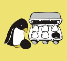 LINUX TUX PENGUIN EGG BOX BLACK EGG Kids Clothes