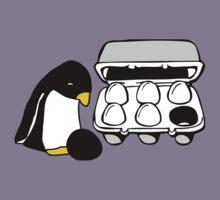 LINUX TUX PENGUIN EGG BOX BLACK EGG Kids Tee