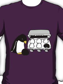 LINUX TUX PENGUIN EGG BOX BLACK EGG T-Shirt