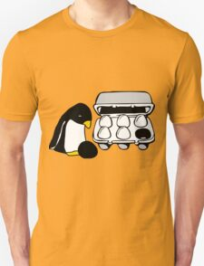 LINUX TUX PENGUIN EGG BOX BLACK EGG T-Shirt