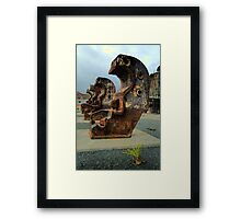 Easter Island Statues In Sydney ? - Cockatoo Island - The HDR Series Framed Print
