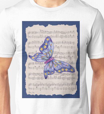 Dancing Butterfly_1_blue Unisex T-Shirt