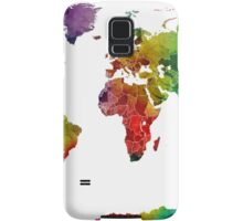 Watercolor Map of the World Map Samsung Galaxy Case/Skin